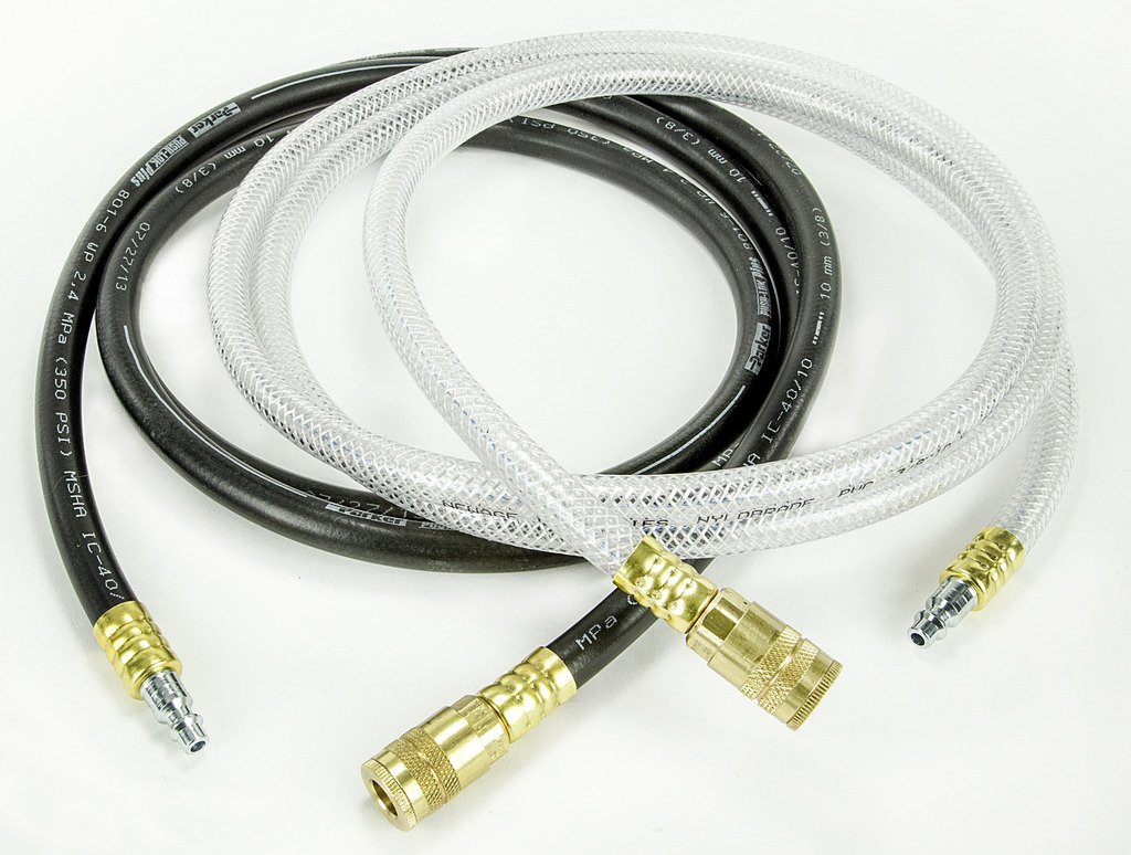 HECAT HD FLUSH & RETURN HOSE EXTENSION SET (111739) - Hoses with Quick Couplers, 8 ft each
