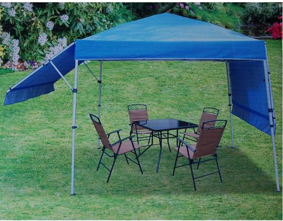 Amazon Com Rite Aid Home Design Double Awning Gazebo Sun Shelter Canopy Blue Garden Outdoor