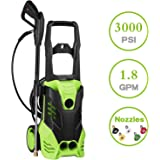HX4000 3000PSI 1.80 GPM Electric Pressure Washer W/5 Quick-Connect Spray Tips Onboard Detergent Tank (HX4000) (HX4000)