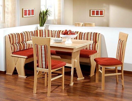Banco de madera de haya de colour rojo y de la silla de grupo Katy 2