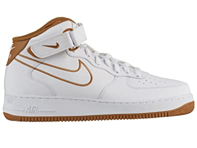 NIKE Men's Air Force 1 Mid Leather Casual Shoes