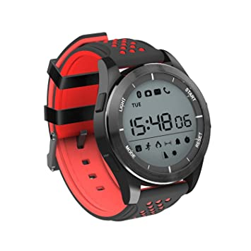 XHZNDZ Reloj Impermeable IP68 Reloj Inteligente Bluetooth Reloj de Entrenamiento F3 Fitness Tracker Sleep Monitor Smartwatch