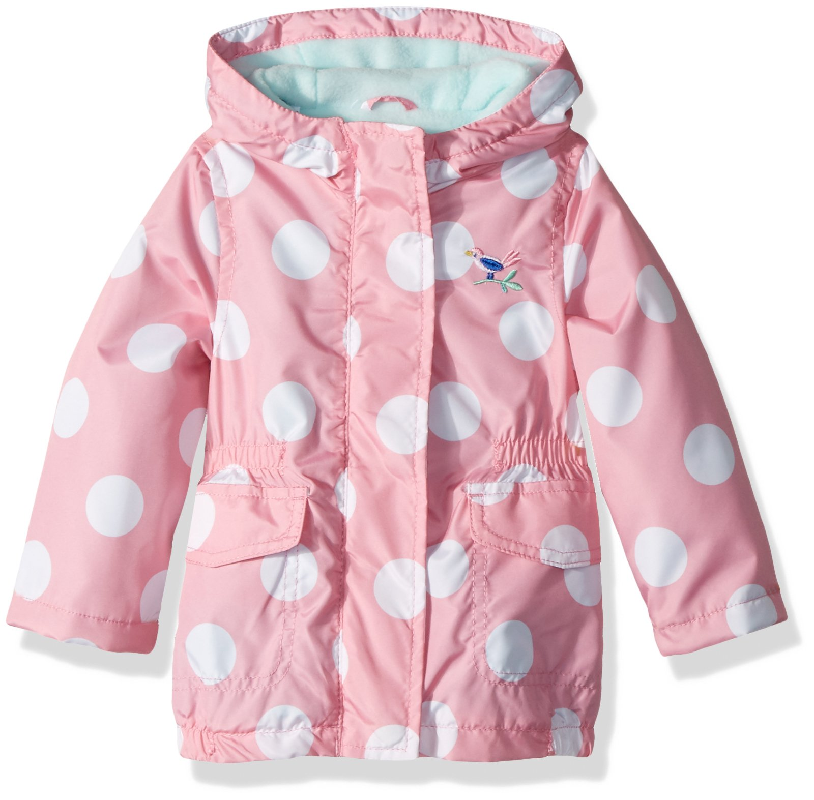 Carter's Baby Girls Fleece Lined Anorak Jacket, Pink Dot, 18M by Carter's