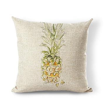 Amazon.com: starflowss Pillow Cover Piña Lino y Algodón ...