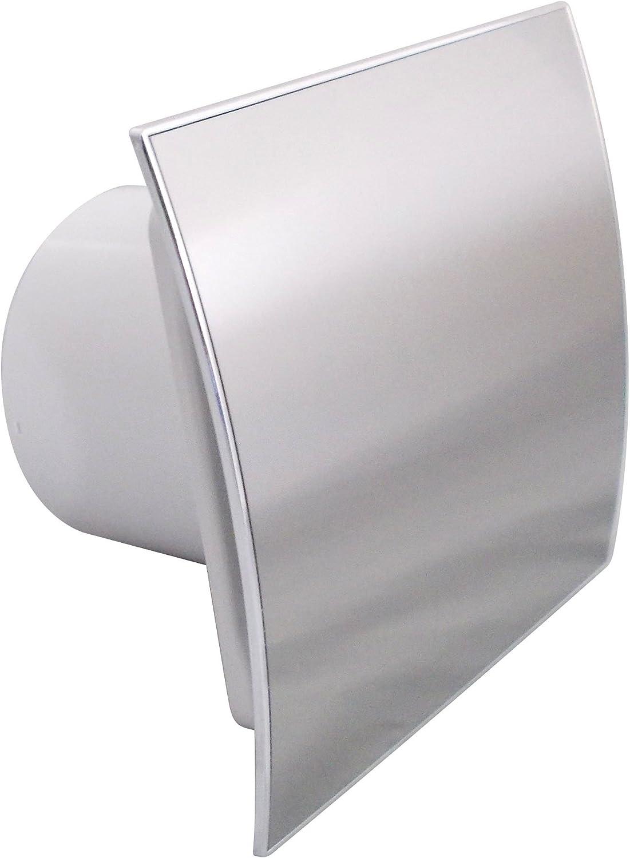 Ventilador extractor de baño de 100 mm, moderno ventilador de ducha de cocina EI-100, panel de acero inoxidable