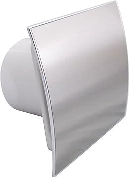 Extractor de baño 100 mm/10,16 cm temporizador Sensor de humedad EI-100H cromo pulido: Amazon.es: Bricolaje y herramientas