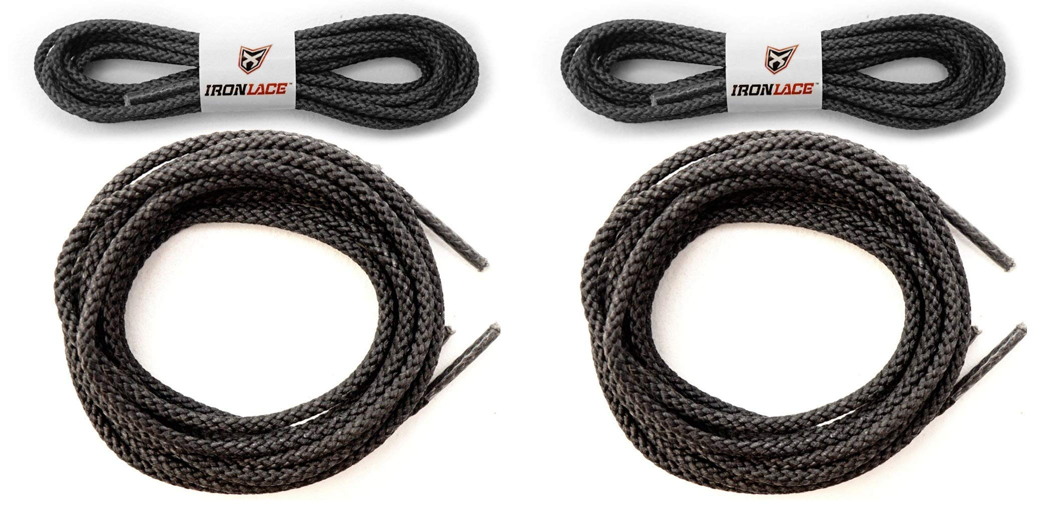 Unbreakable Extra Heavy Duty Round Boot Laces Shoelaces 54'' (Тwо Расk)