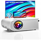 """ARTSEA 5G WiFi Projector for iPhone, Native 1080P Projector 9500L Full HD Projector Outdoor Video Projector 300"""", Synchronize"""