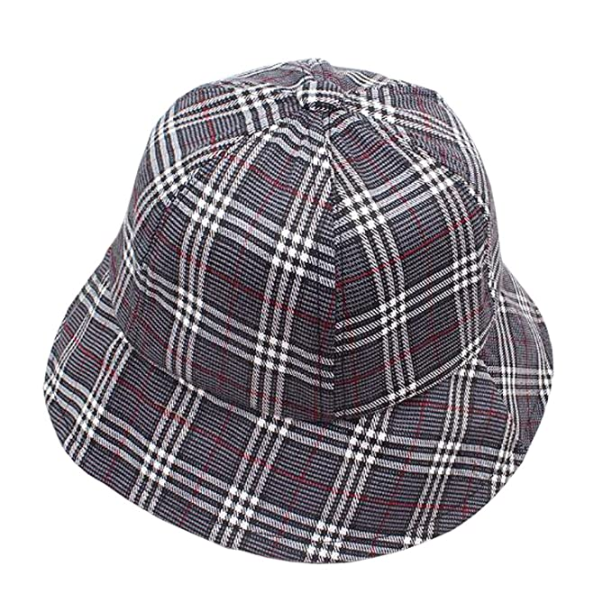 80e100b0197894 ACVIP Women's Checkered Summer Outdoor Sun Protection Bucket Hat (Color ...