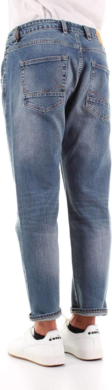 Jack /& Jones Jeans 12140894 Uomo Frank Slim Fit Cropped Vita Regolare Pantaloni