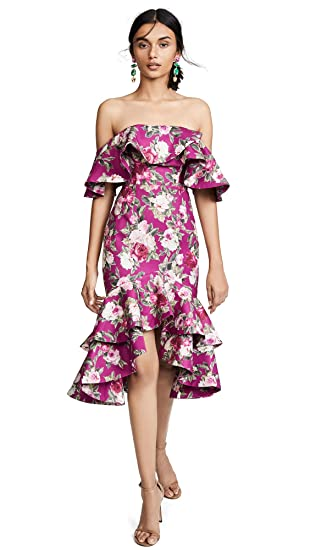 3428dc94155 Fame and Partners Women's The Sasha Dress, Spiced Berry, Floral, 2 ...