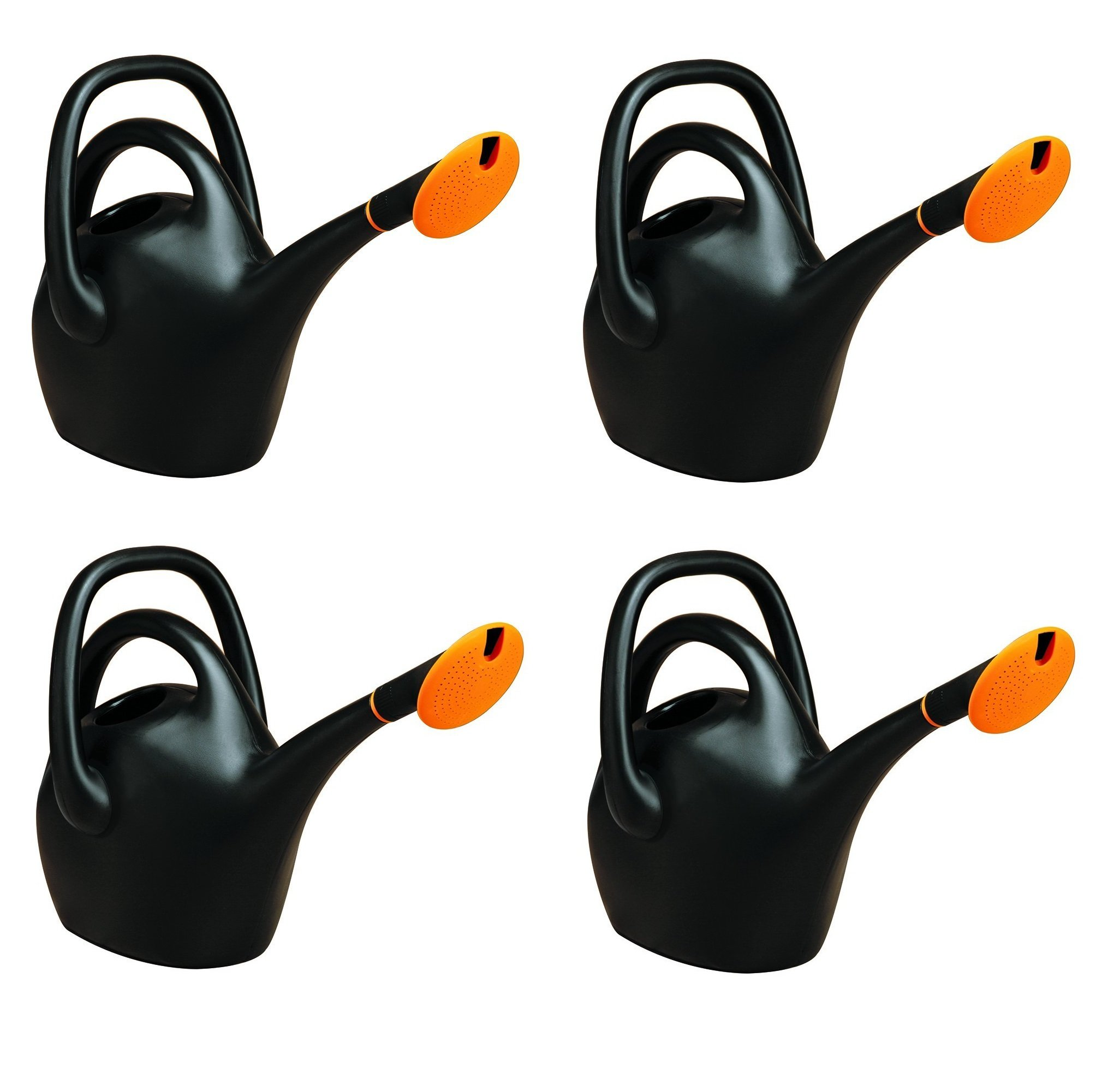 Bloem Easy Pour Watering Can, 2.6 Gallon, Black (20-47287CP) (4-pack)