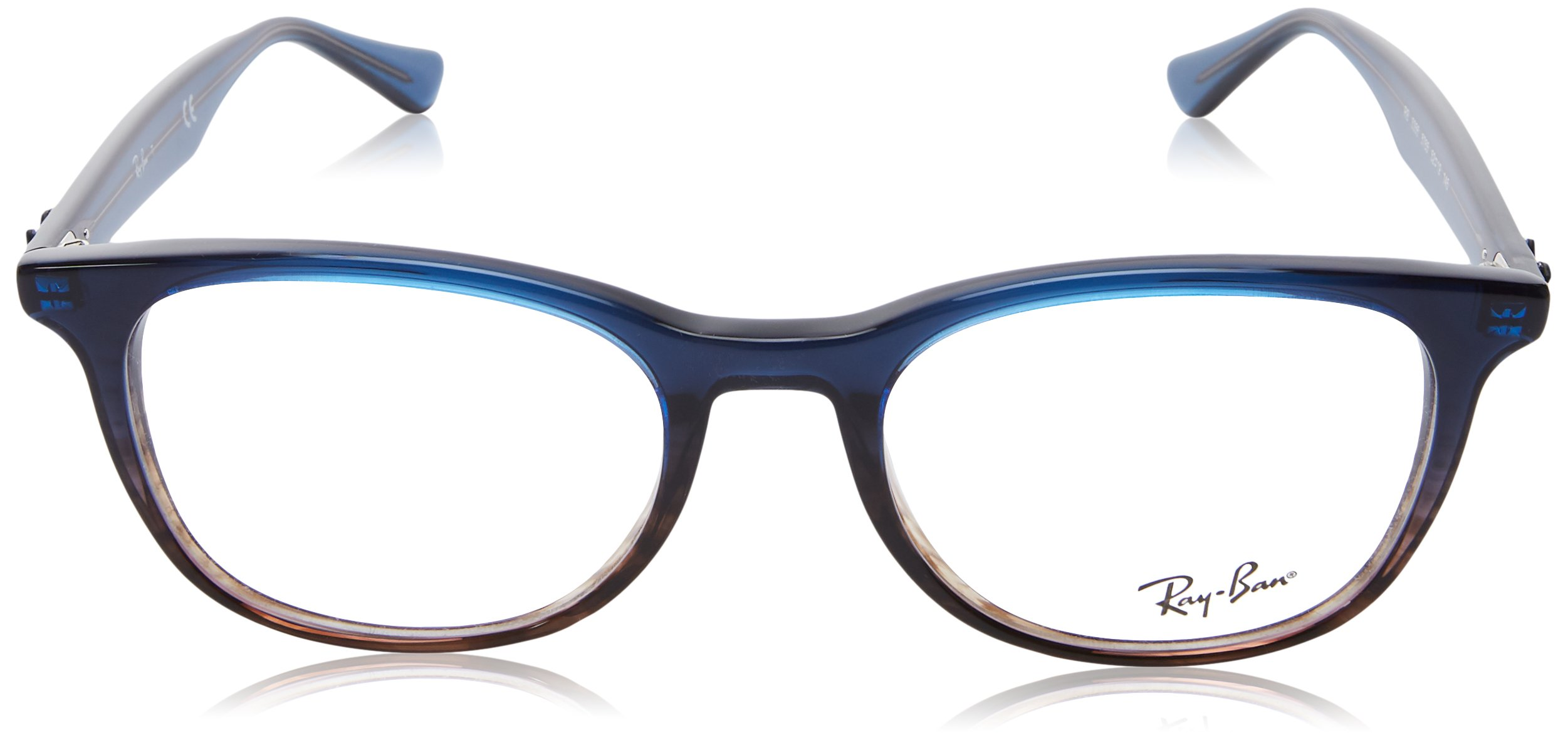 Ray-Ban RX5356 Square Eyeglass Frames, Blue Grey  /Demo Lens, 52 mm by Ray-Ban (Image #2)