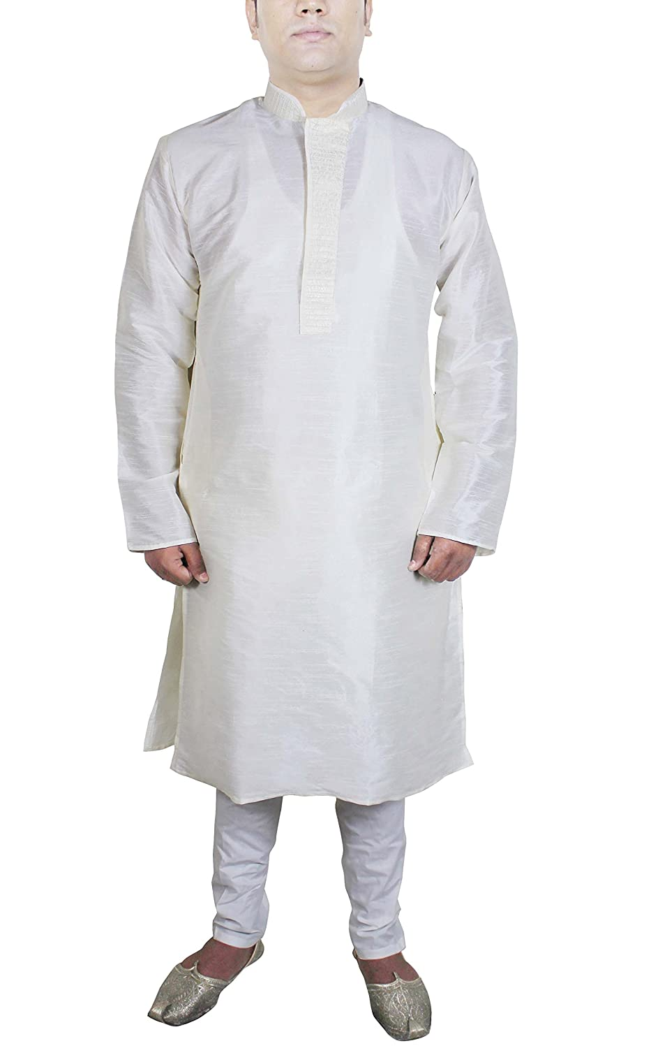Kurta Pajama,White,L - Chest : 42 inches