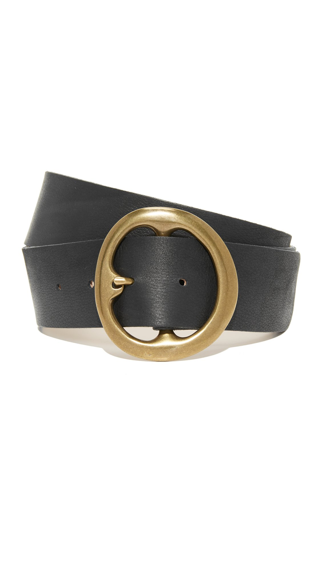 B-Low The Belt Women's Bell Bottom Belt, Black/Brass, Small