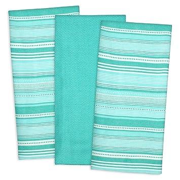 DII Cotton Pre Shrunk Urban Stripe Dish Towels, 20x30u0026quot; Set Of 3, Modern