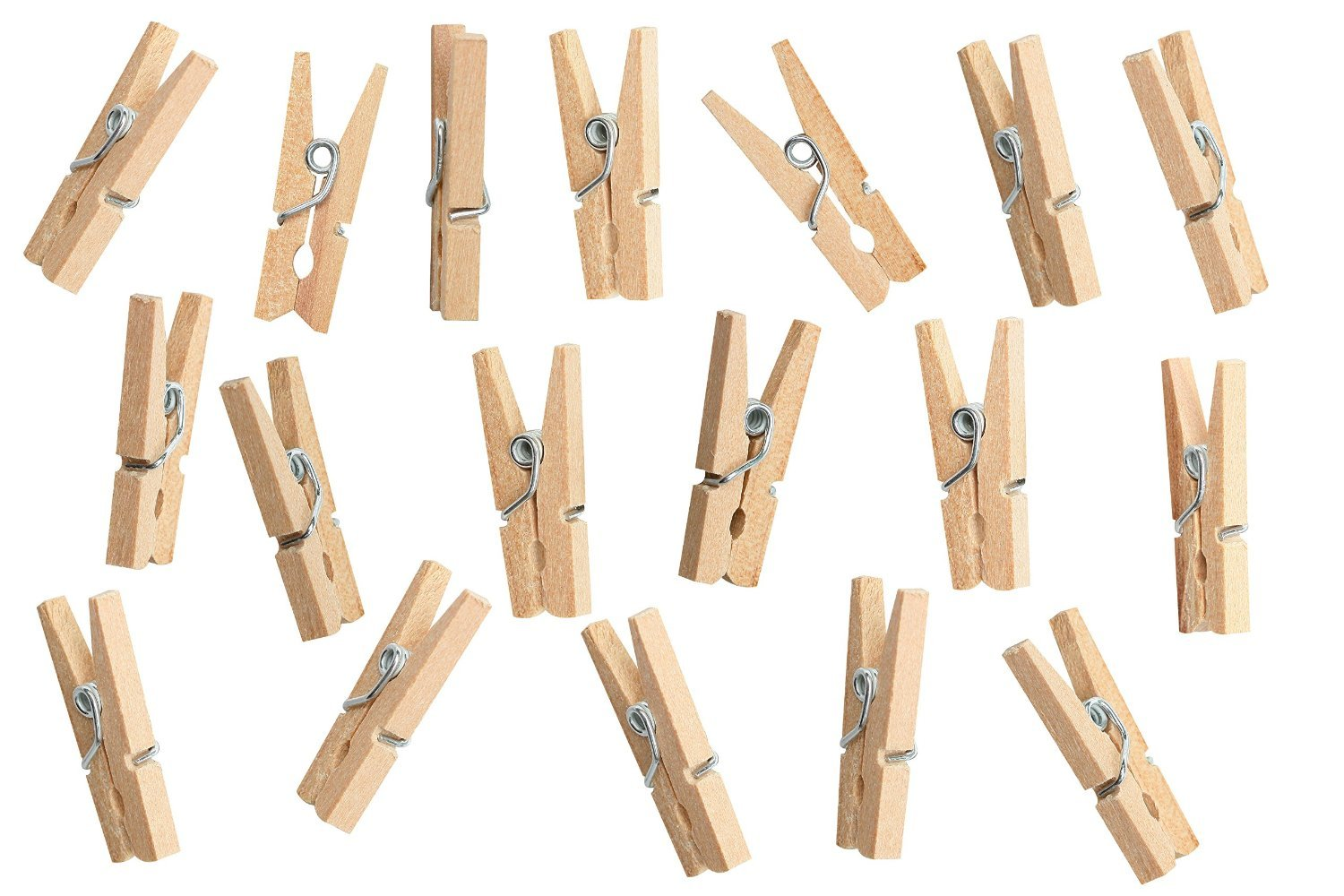 Greenco Laundry Clips - Wooden Clip - Wood Clothespins with Spring - 200 Pack