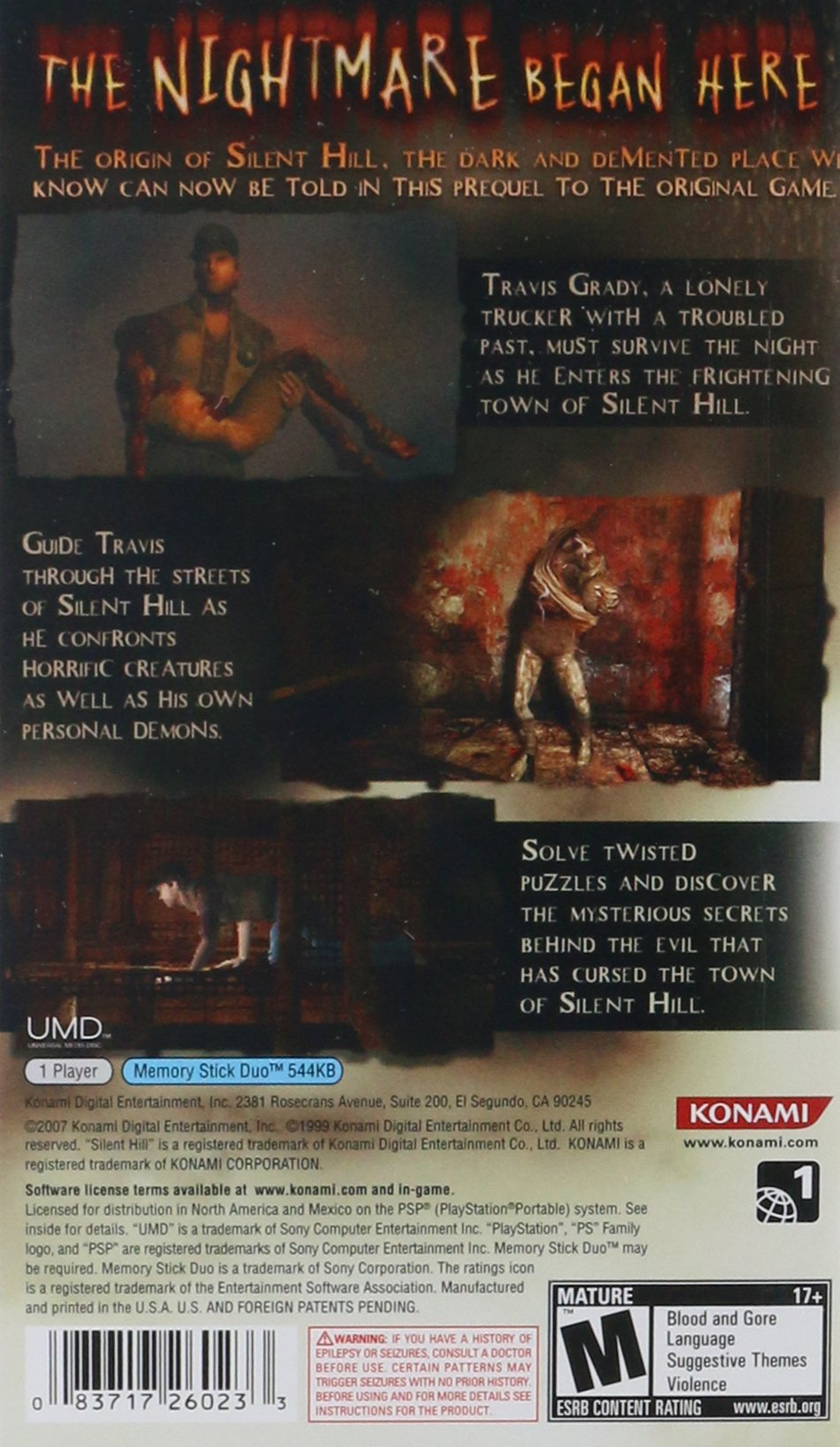 Silent Hill Origins - Sony PSP by Konami (Image #2)