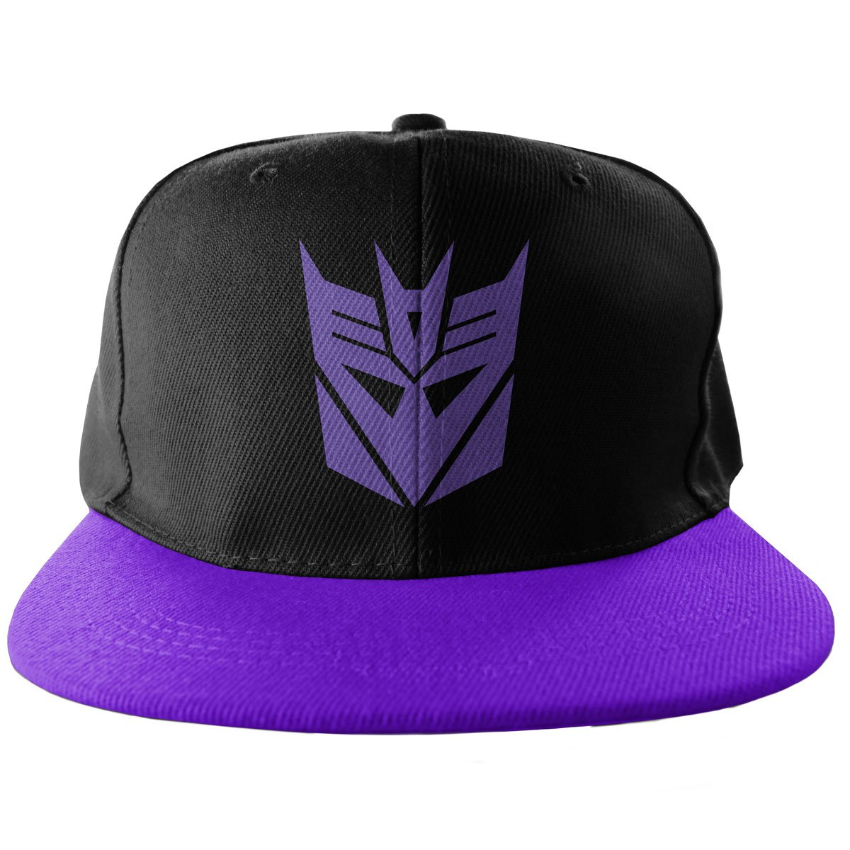 Decepticon Embroidered Adjustable Size Official Snapback Cap (BLACK/PURPLE)