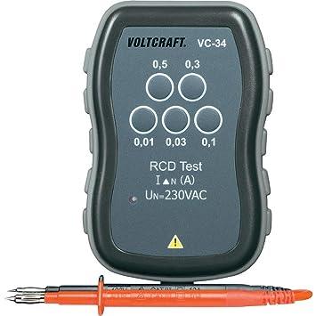 Wonderful VOLTCRAFT Vc 34 Verifier Schnelle FI Kontrolle Gerät Der Differential  Schalter