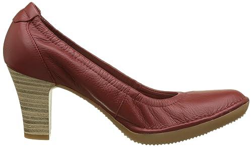Frimma A7, Zapatos de Tacón con Punta Cerrada para Mujer, Rojo (Rubis), 36 EU TBS