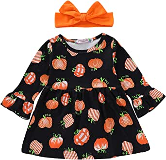 MILWAY Infant Baby Girls Dress Plaid Skirt with Headband Summer Outfit Clothes