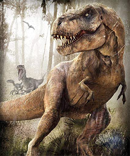 Amazon Com Paint By Number Kits Forest Dinosaurs 16x20 Inch Linen