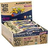 Don't Go Nuts Nut-Free Organic Snack Bars, Blueberry Blast, 12 Count, Chewy Granola Bar with Blueberries