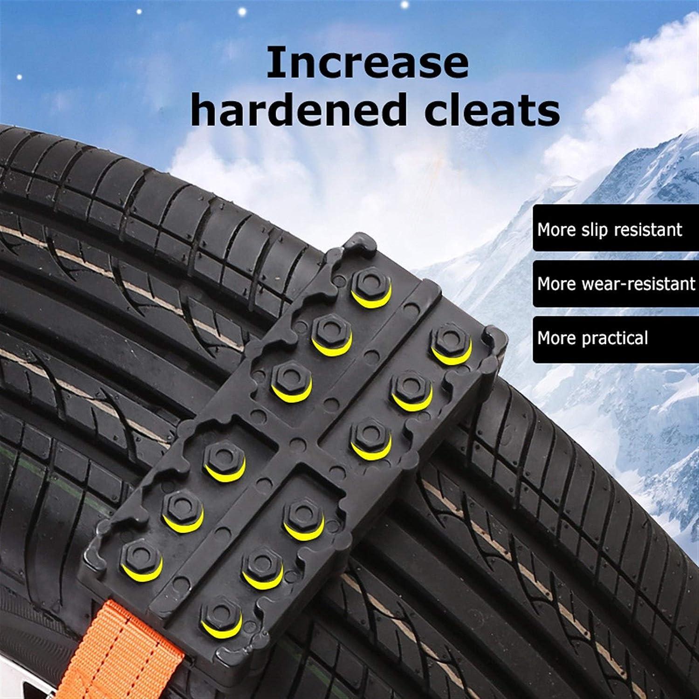 Schlamm//Sand//Regen Ground mlzaq 2ST Automobil-Reifen-Schnee-Kette for Schnee- Auto SUV Fahrzeugtyp Flucht sicherer Einklemmschutz Selbstrettung Brett