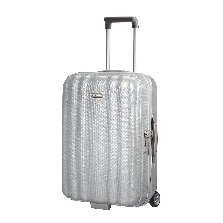 Samsonite Lite-Cube Upright 55/20 Equipaje de cabina, 55 cm, 37 L, Plateado (Plateado)