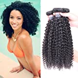 BLY Hair 3 Bundles 100% Unprocessed 7A Malaysian Virgin Kinky Curly Human Hair Weaves Deep Curly Hair Bundles Natural Black