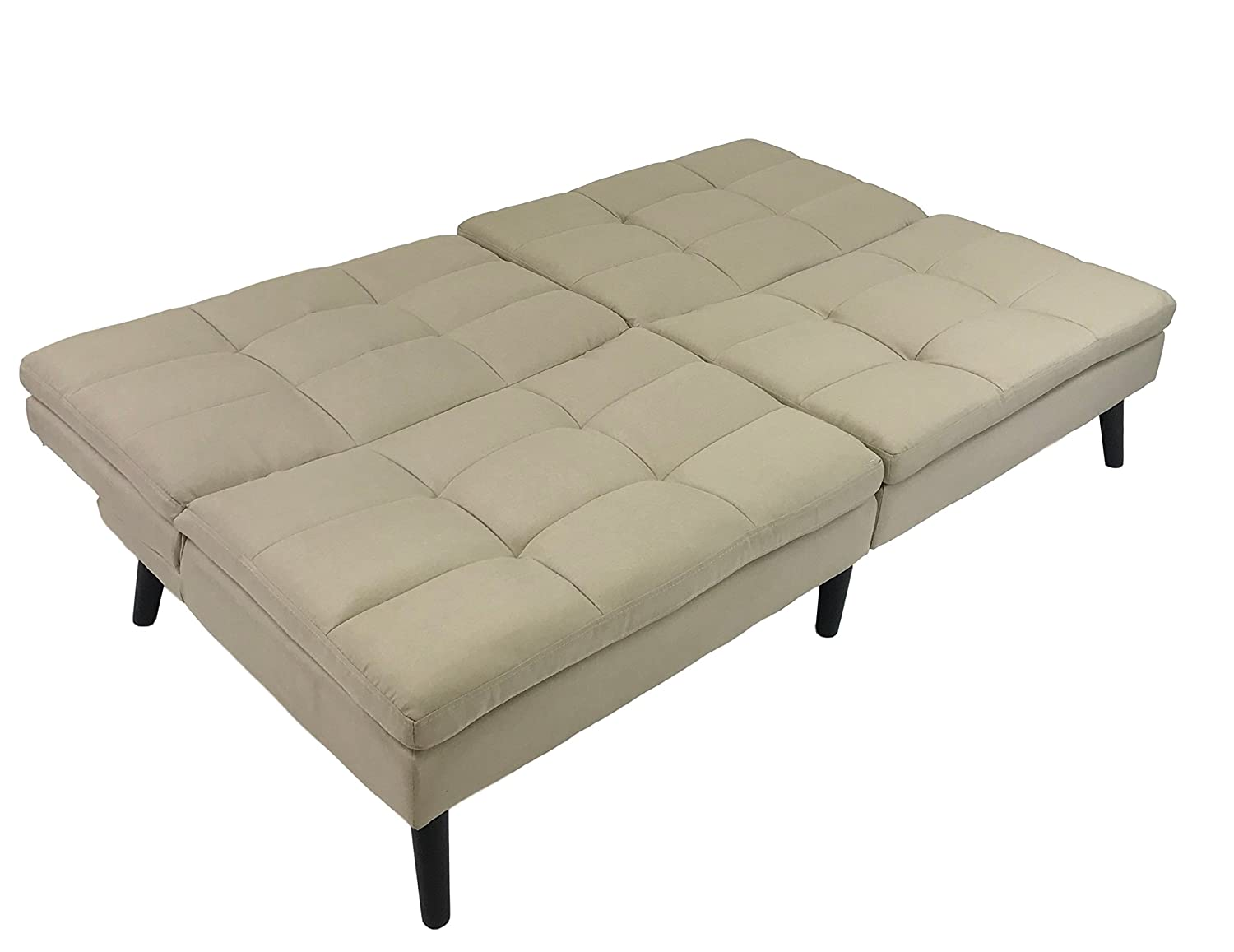 ViscoLogic Windsor Split Back Convertible Futon Sofa Bed