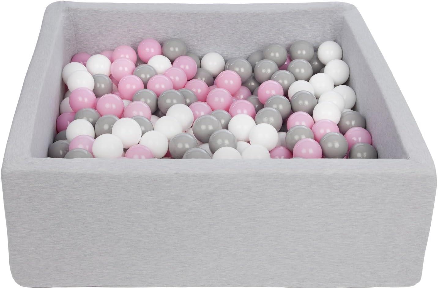 90x90 cm Colori delle palline: bianco perla, blu, argento ca piscina secca bambino palle palline 300 Piscina gioco