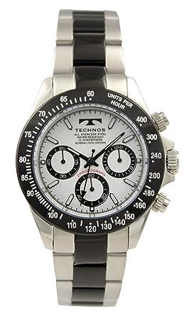 72fcf79cf9 Amazon | [テクノス]TECHNOS 腕時計 クロノグラフ 10気圧防水 T4685TW ...