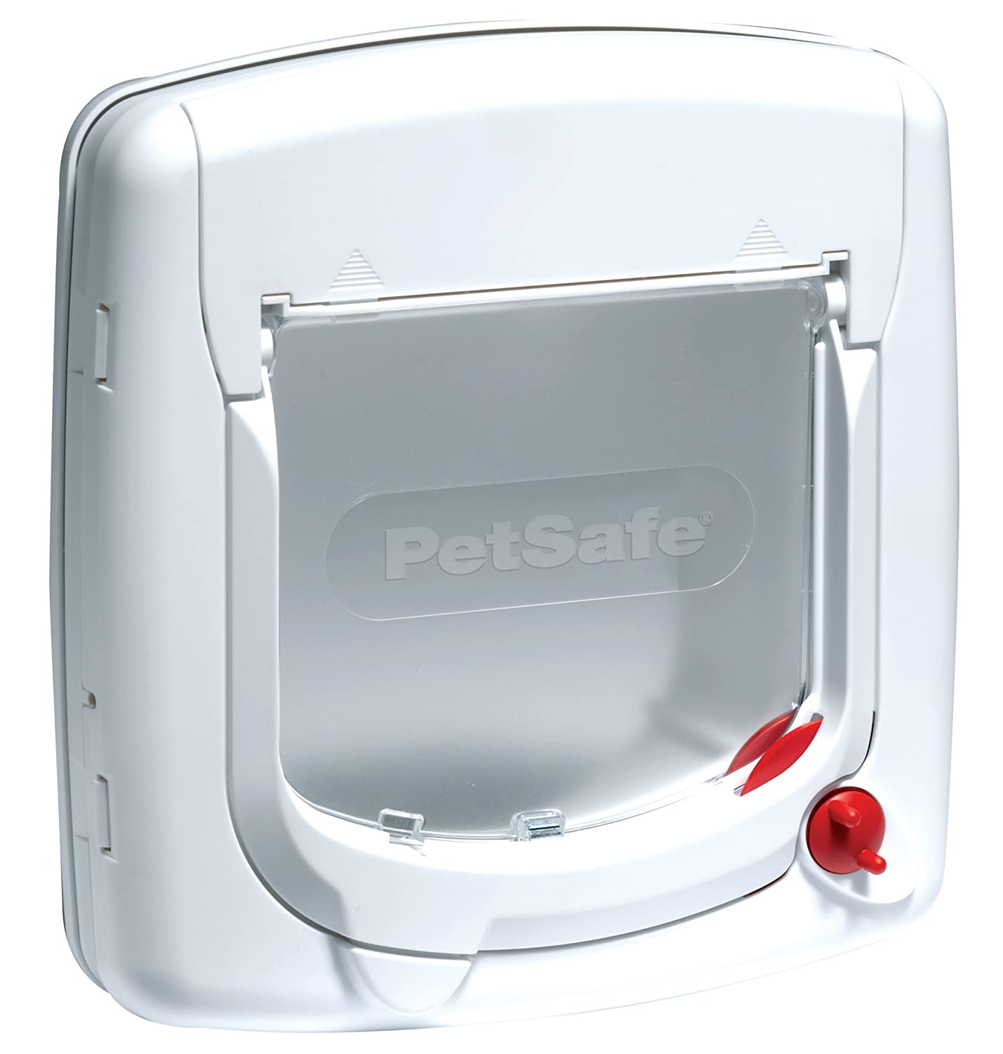 PetSafe Staywell, Deluxe Manual Cat Flap, White, 4 Way Locking, Easy Install 300EF