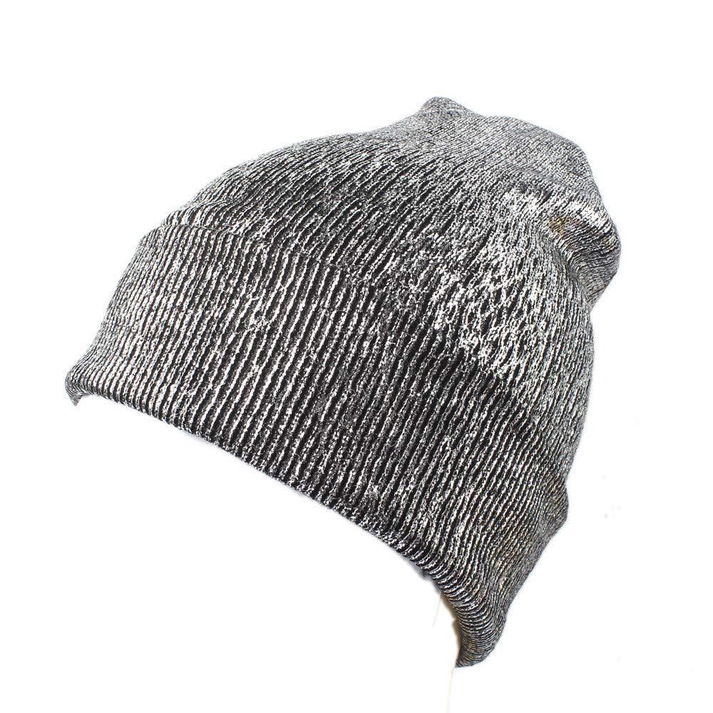 KPPONG 2018 Ankunft Frauen Winter Stricken Glitzernden Hut Warme Ohrenschutz H/äkeln Caps
