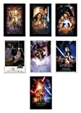 "Amazon Price History for:Star Wars: Episode I, II, III, IV, V, VI & VII - Movie Poster Set (7 Individual Full Size Movie Posters) (Size: 24"" x 36"" each)"