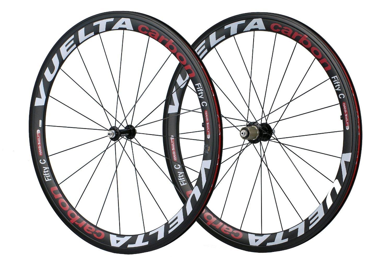 Vuelta ブエルタ コルサ 50T カーボン チューブラー ホイールセット(ブラック)【並行輸入品】+NONOKUROオリジナルグッズ B00LBA6J5I