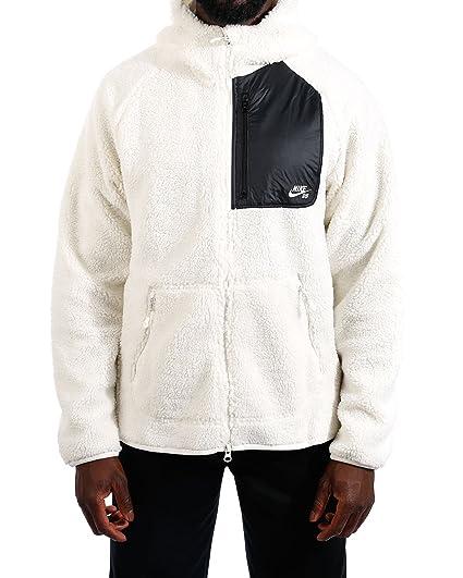fantastic savings designer fashion exclusive shoes Nike SB Evrt Men's Hoodie Full Zip Sherpa, Sail/Black/Sail ...