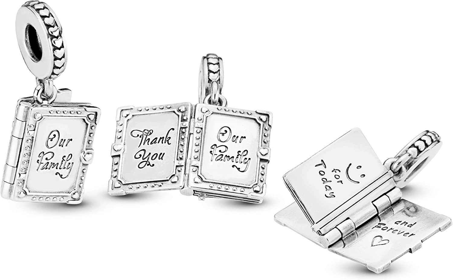 Pandora Jewelry Family Book Dangle Sterling Silver Charm
