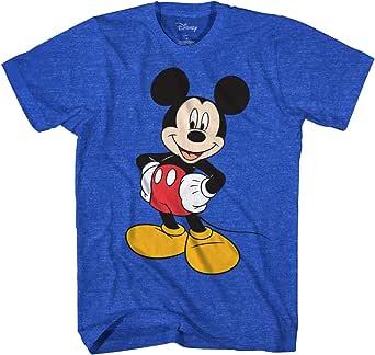 Disney Camiseta de Manga Corta Mickey Wash Camiseta para Hombre