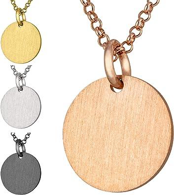 Silberkette mit Anhänger Damen modabilé CIRCLE Kette aus Sterling Silber 925