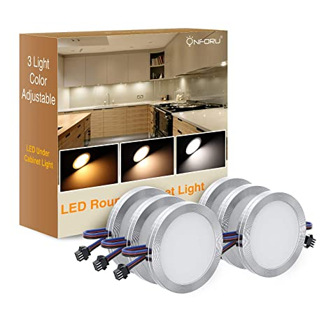Cabinet lighting 6 Ikea Onforu Led Under Cabinet Lighting Kit Dimmable Led Puck Lights Adjustable Lights Color Amazoncom Onforu Led Under Cabinet Lighting Kit Dimmable Led Puck Lights