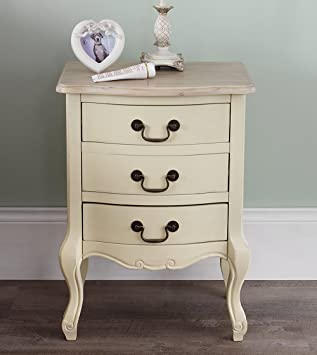 Juliette shabby chic champagne 3 drawer bedside table french cream juliette shabby chic champagne 3 drawer bedside table french cream bedside cabinet with limed finish watchthetrailerfo