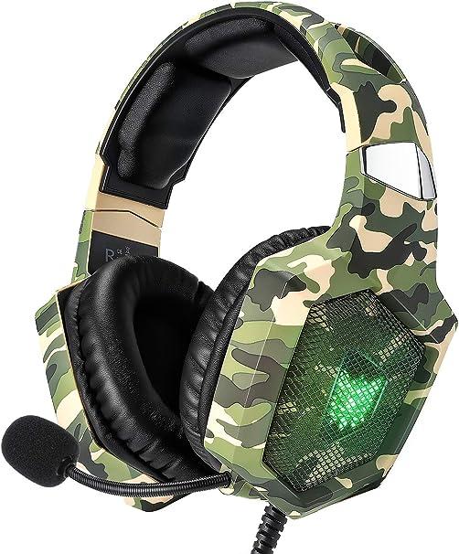 Amazon.com: RUNMUS - Auriculares de diadema para PS4, Xbox ...