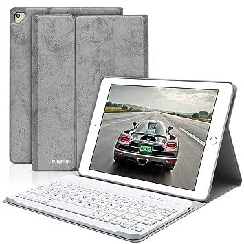 BAIBAO Teclado para iPad 2018, Funda Teclado Inalámbrico para iPad Air 2/1/9.7/2018(6th Gen)/2017 con Teclado Bluetooth Español,Funda para iPad con ...