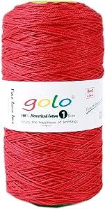 golo Crochet Yarn Size 1,Cotton Cone Yarn 8.8 oz,Crochet Yarn Cotton 705yd Crochet Yarn for Blankets