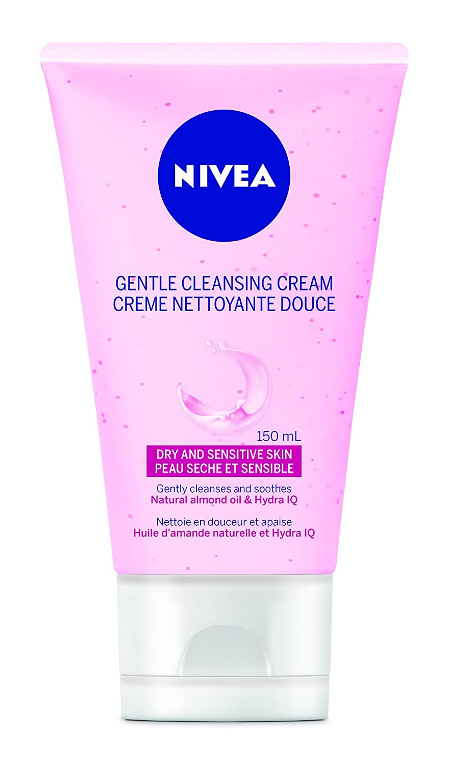 NIVEA Gentle Facial Cleansing Cream for Dry and Sensitive Skin, 150mL 056594004658