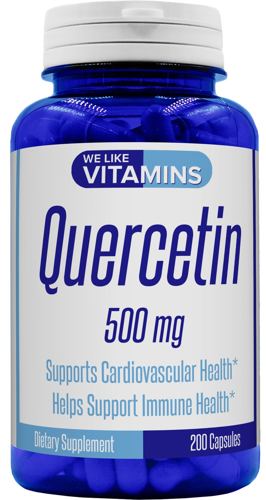 Quercetin 500mg 200 Capsules (Non GMO & Gluten Free) Natural Antihistamine Quercetin Supplement Helps Support Cardiovascular, Immune, and Cellular Function. by We Like Vitamins