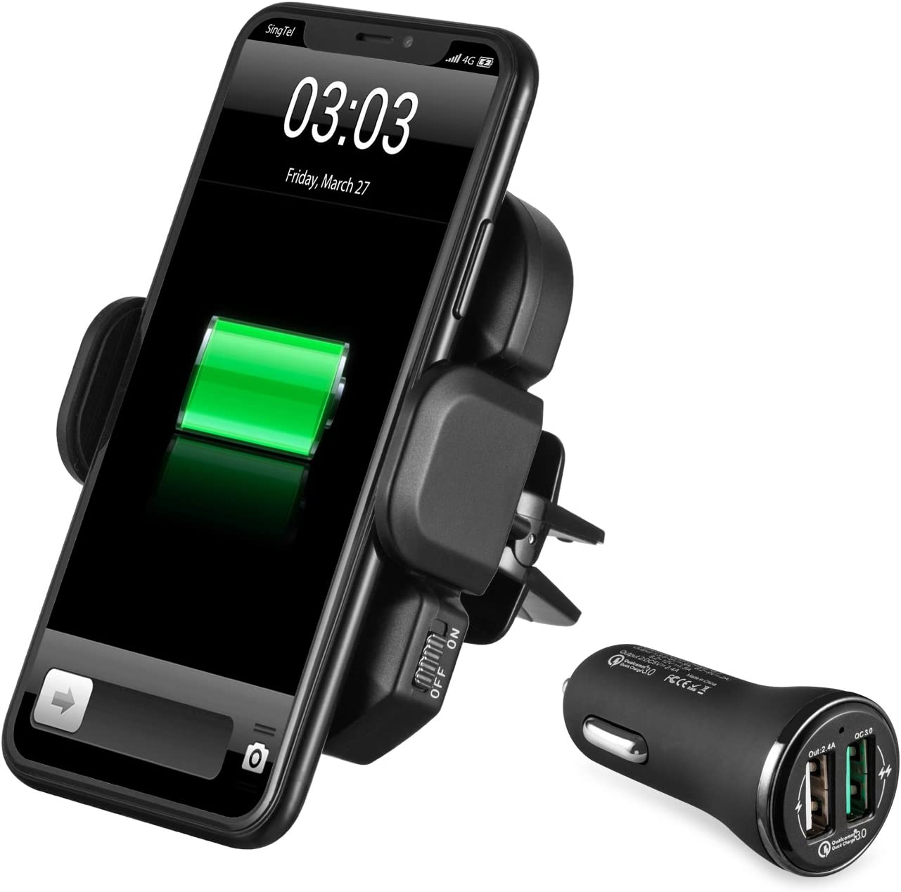 IKOPO Automatic Phone Holder for Car